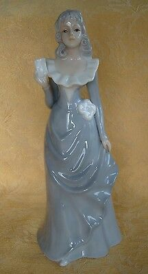 Japan Fine Porcelain Figurine Girl with Note - Glossy Finish