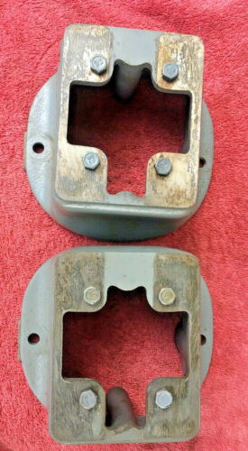 "EXCELLENT SOUTH BEND 9"" A B C LATHE BED FEET RISERS PAIR"