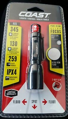 Coast Hx5 Pure Beam Focusing Pocket Light High 130 Lumens 4 0  20769 Flashlight
