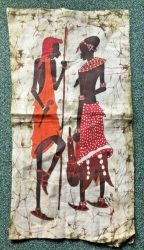 African Art Batik Fabric Wall Hanging Mural