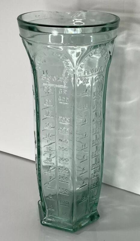 Vintage Italy Vetreria Etruria Dosatore Apothecary Wet Dry Measuring Cup Rare