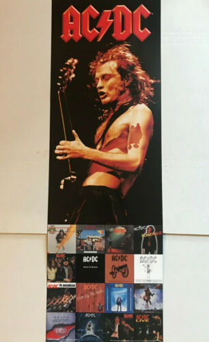 "AC/DC Angus Young 12x36"" Poster by Import Images"