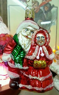 Old World Christmas, Mr. & Mrs. Claus 1570, Ornament (INGE GLASS Collection)