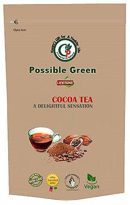Kakao Bohne Tee, Mischung mit aus Rein Bio Kakao Beans 20 Teebeutel 40g