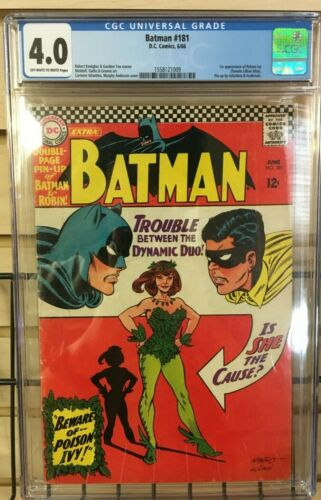 Batman #181 (1966) - 1st Appearance of Poison Ivy! - CGC 4.0 - OW/W