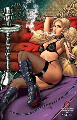 "Notti & Nyce #4  SET of 2  ""Hookah"" Alex Kotkin  Ltd. 100/150   Comic Books"