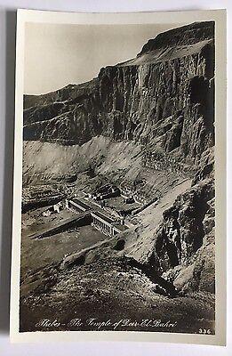 RPPC Postcard Thebes The Temple of Deir-El Bahri Lehnert & Landrock Cairo Egypt