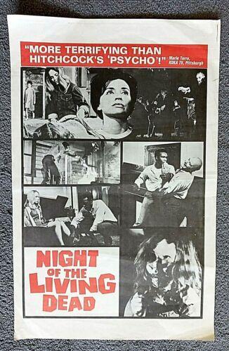 Night of the Living Dead pressbook Herald HORROR George Romero DUANE JONES 1968