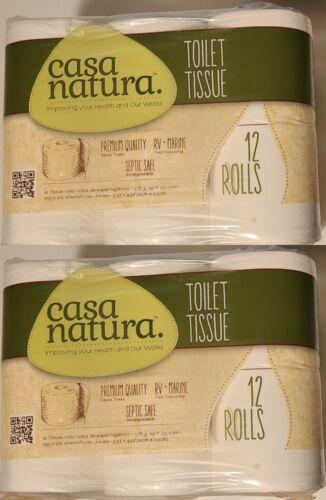 2x Casa Natura toilet tissue 12 Roll per Pack natural organic premium