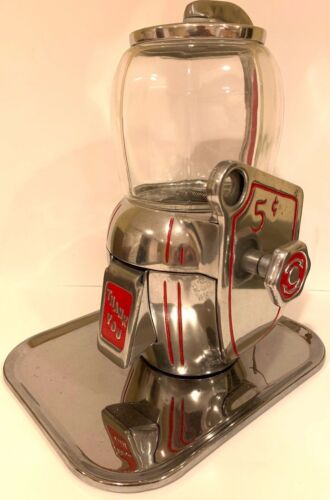 RARE Vintage Early 1940s ATLAS BANTAM PEANUT Vending Machine 5 Cents W/ 2 KEYS!