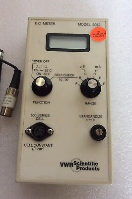 Vwr Scientific Products E C Meter Model 2052 With Probe
