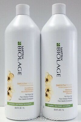 Matrix Biolage Deep Smooth Smoothing Shampoo Conditioner Liter Duo for Frizzy Biolage Deep Conditioner