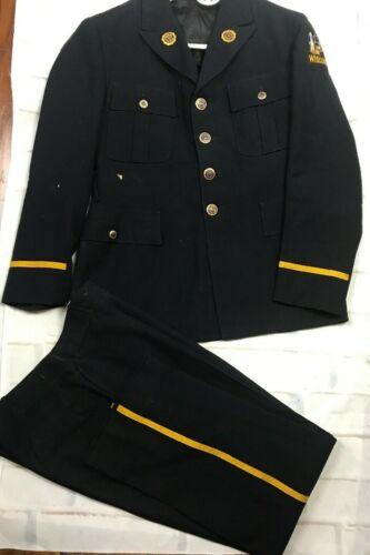 Vintage Wisconsin American Legion Dress Uniform Jacket And Pants Buttons