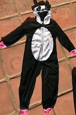 Black PANDA fleece bear w.hood: Kigurumi,Halloween Costume,union suit: XS 4-5 - Black Bear Halloween Costume
