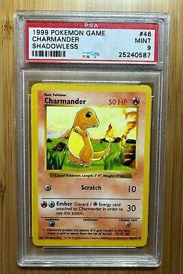 Pokemon Shadowless Charmander PSA 9 Mint Base Set 46/102 Card Unlimited
