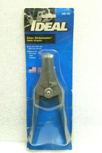 Ideal Stripmaster Cable Wire Stripper Model 45-262 for RG-6 Coaxial, USA Made