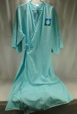 Green Hospital Gown Robe Medical Mental Patient Halloween Costume Authentic OSFM - Halloween Costumes Hospital Gown