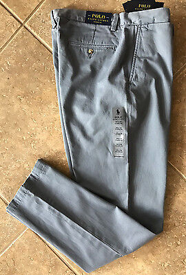 Polo Ralph Lauren Flat Front Chino Pants Mens 36 x 32 Blueberry Classic NWT