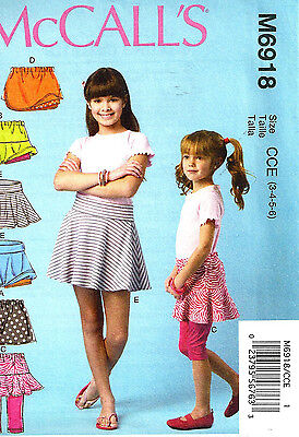 SEWING PATTERN! MAKE  SKORTS~ATTACHED LEGGINGS~SHORTS! CHILD 3 TO GIRL 14 SUMMER](Kids Summer Crafts)
