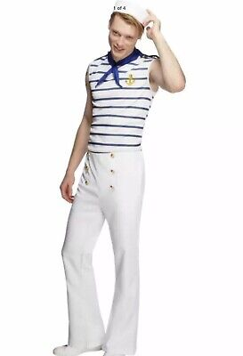 French Man Halloween Costume (Fever French Sailor Men's Halloween Costume Top Trousers and Neckerchief Sz)