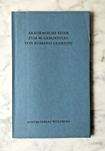 Akademische Feier zum 80.Geburtstag von Romano Guardini, Würzburg 1965