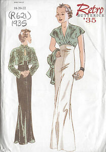 1935 Vintage Sewing Pattern DRESS & JACKET B40