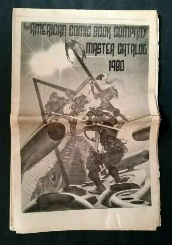 """""""AMERICAN COMIC BOOK CO. MASTER CATALOG 1980 LARGE 80 PAGE FOUR SECTIONS COMICS"""