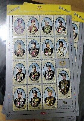 Agong 2018 2019 Stamp Sheet Sheetlet MNH  Vertical Design from SODA (not 2017)