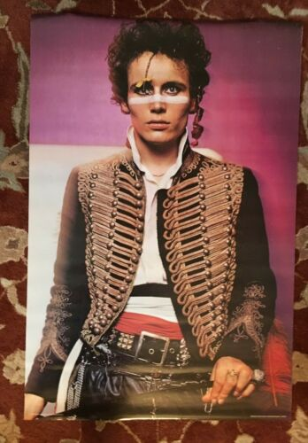 ADAM ANT  rare commercial poster from 1980