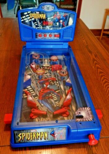 VINTAGE Spiderman Tabletop Pinball Game EXCELLENT OVERALL CONDITION