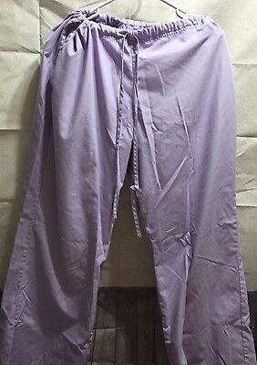 - SB Scrubs Women's Large Drawstring Waist Lavender Scrub Bottoms Pants Uniform