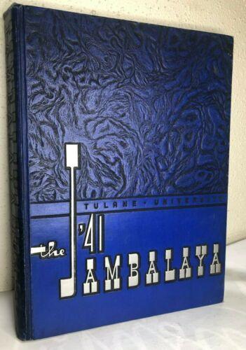 1941 TULANE UNIVERSITY Yearbook JAMBALAYA New Orleans Louisiana WWII WW2 Annual