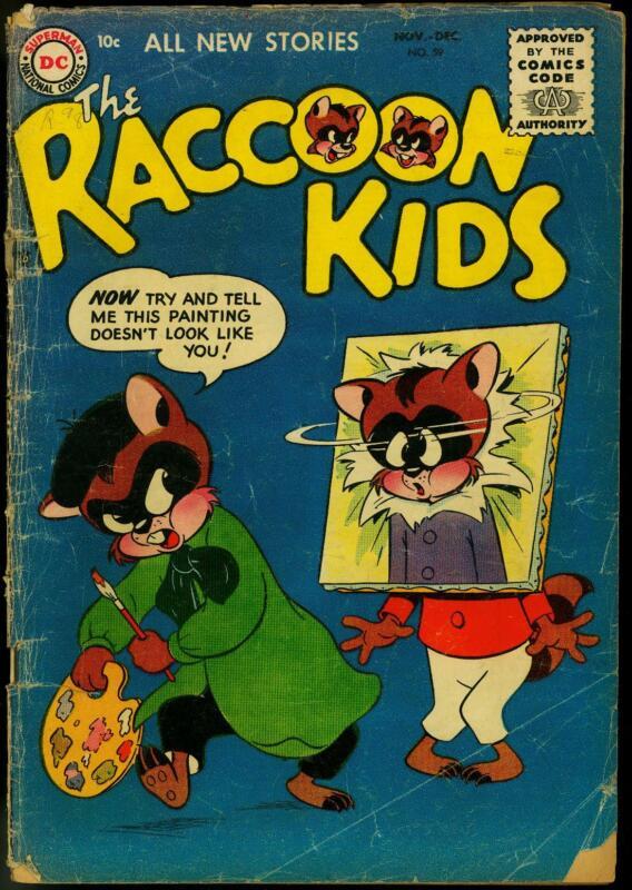 Raccoon Kids #59 1955 - DC  -G- - Comic Book