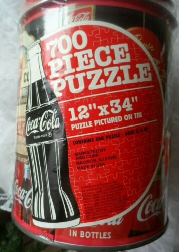 Coca Cola Collectible - 700 PIECE PUZZLE IN SEALED TIN