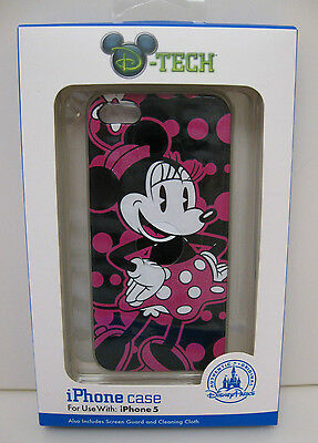Disney D-Tech iPhone 5 Clip Case Cover - Minnie Mouse Pink New