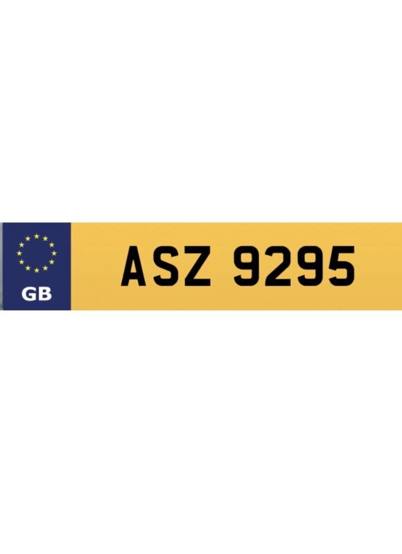 ASZ+9295+Private+number+plate+on+retention