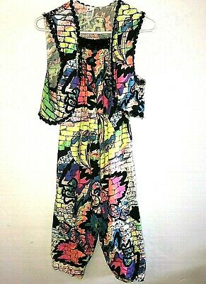 Costume Gallery Womens 2 Piece 80's Outfit Graffiti Will Smith Small B24 - 80s Outfit Women