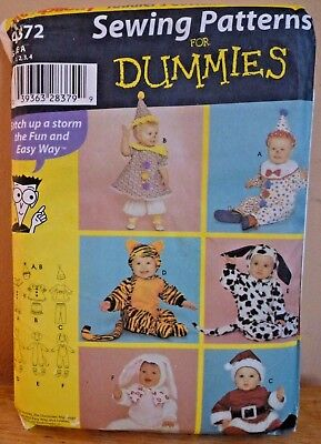 Halloween Costume Pattern Simplicity 4872 Clown, Bunny, Dalmatian,Tiger + 1/2-4