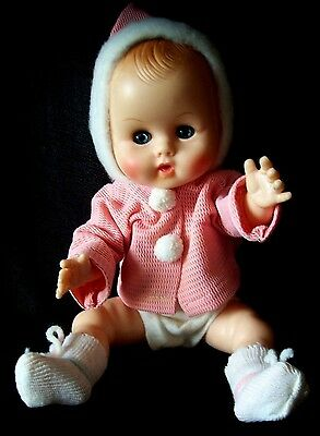 "Vtg 1960s/70s Vogue Baby Ginny Vinyl Doll 11"" Orig Clothes 1 More Doll Available"