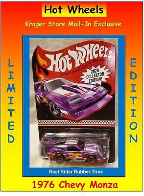 2020 COLLECTOR EDITION Hot Wheels KROGER STORE MAIL IN '76 CHEVY MONZA Purple RR