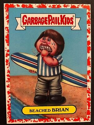 2017 GPK Garbage Pail Kids Series 2 Battle Bands #2a BEACHED BRIAN RED 42/75](Red Beach Pail)