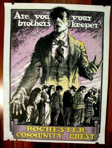 Original WWI War Poster, Are You Your Brother