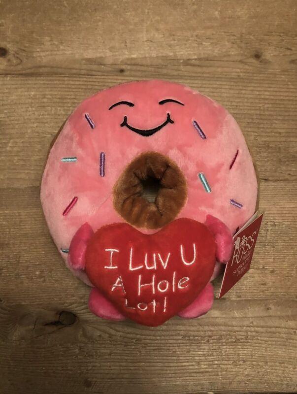 "New Russ Donut Plush ""I Luv U A Hole Lot!"" Valentines Day 2021 Butt TikTok"