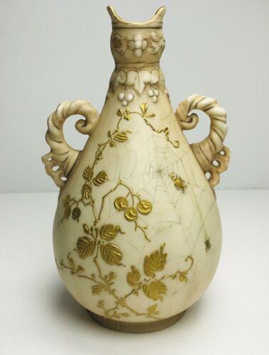Alfred Stellmacher Turn Teplitz Small Vase Spider Spiderweb Art Nouveau READ