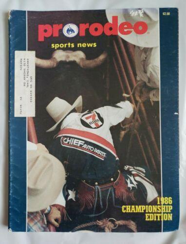 1986 Championship Edition Prorodeo Sports News - Prof. Rodeo Cowboys Assoc. Prof