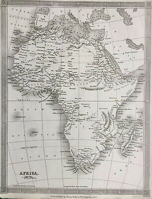 1843 Antique Map; Africa - Alexander Findlay