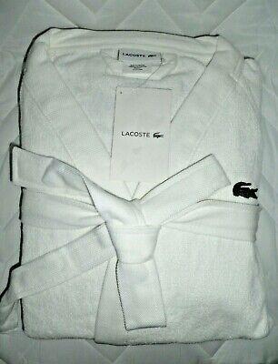 Lacoste Classic Pique Robe, 100% Cotton, One Size, White NEW $100