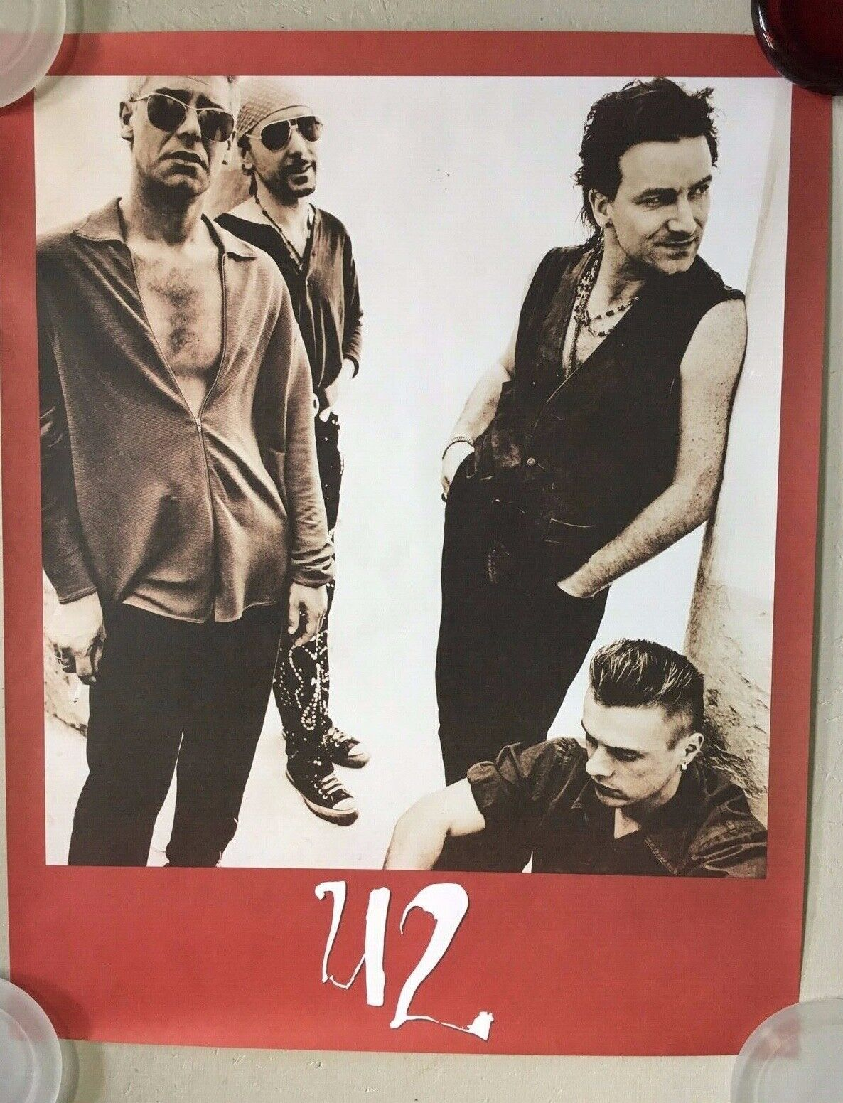 U2 - Achtung Baby - 1991 Promo Poster Matte Finish Paper - 24x3 - USA - NEW - $17.99