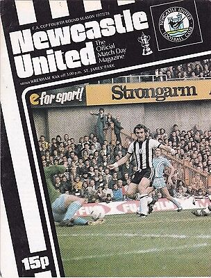 NEWCASTLE UNITED  V WREXHAM FA CUP  28/1/78