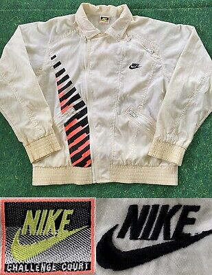 VTG Nike Challenge Court Lava Agassi Tennis Windbreaker Track Jacket Nylon 1989